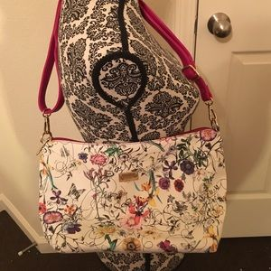 Michael Kors flowered purse.